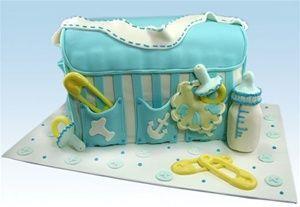 "YummyArts Online Version ""It's In the Bag"" Diaper Bag Cake"