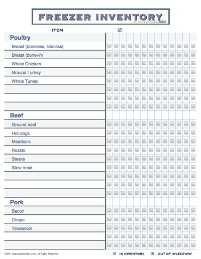 Best  Pantry Inventory Printable Ideas On   Pantry