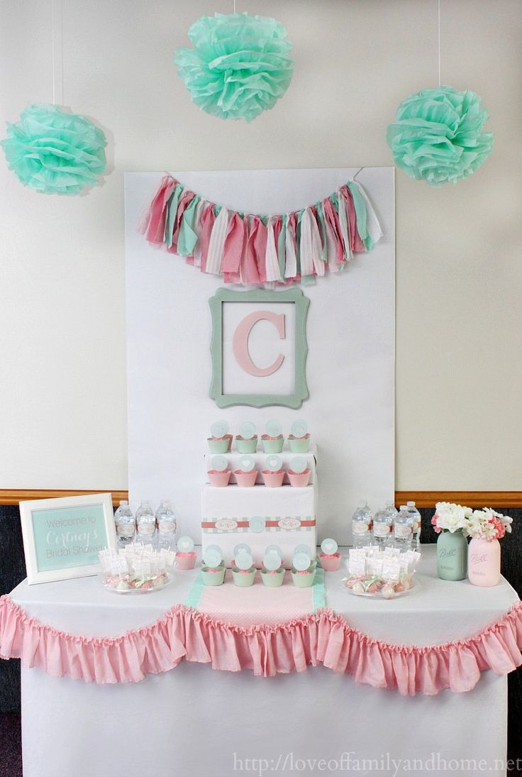 Pink & Mint Bridal Shower