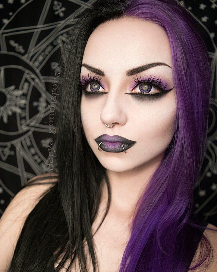 "1,409 Likes, 32 Comments - Darya Goncharova (@darya_goncharova_) on Instagram: "". Background (Tapestry): @killstarco ❤ - code for 10% off: Darya-N1  Purple lenses:…"""