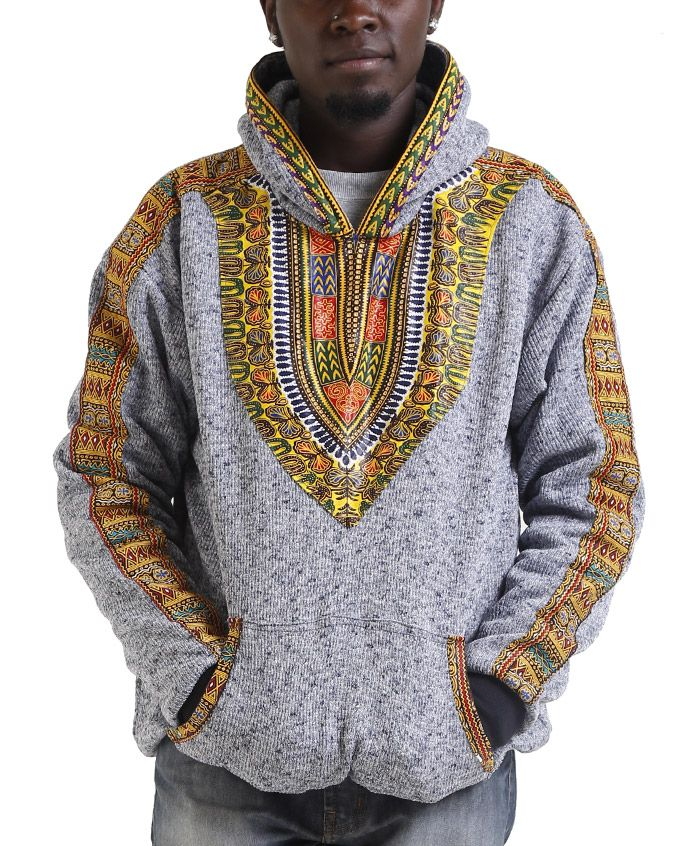 Kidigo- A minimal style hoodie for the more conservative types. With just a hint of thedashiki print along the hem, our kidogo style hoodie means anyone with a penchant forhoods doesn't have to miss out on the fun just because they are scared of print. This is aversatile hoodie that will do for the gym,