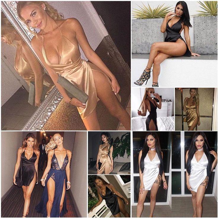 New Women Bandage Bodycon Slim Evening Sexy Party Cocktail Club Short Mini Dress #Unbranded #StretchBodycon #Clubwear