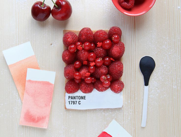 pantone tart by Emilie de Griottes - too sweet to eat!