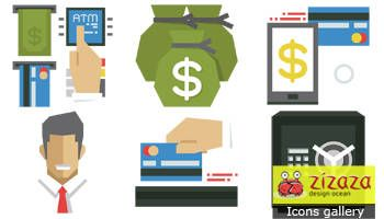 #Freebies #Icon set - Finance - Zizaza item for #freedownload