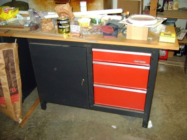 Craftsman Workbench With 3 Drawers