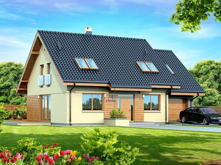 DOM.PL™ - Projekt domu DN KENDRA MAŁA BIS CE - DOM PC1-54 - gotowy projekt domu
