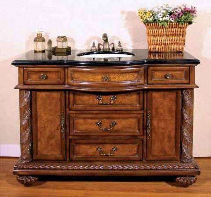 Dignified Antique Bathroom Vanity  -   #antiquebathroomvanityideas #bathroomvanities #bathroomvanitiespictures #bathroomvanityantique #bathroomvanityantiquestyle