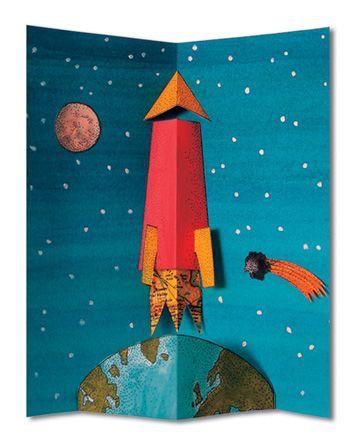 Ракета на открытках