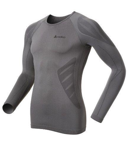 Odlo - Camiseta interior térmica de acampada y senderismo para hombre, tamaño S…