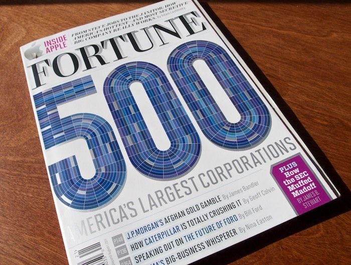 """Fortune Magazine, """"500"""" Issue  A wealth of typefaces go to work in the 2011 edition.  ♥ Geogrotesque!"""