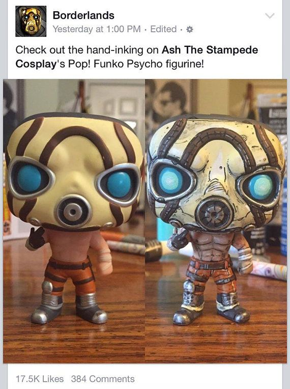 Borderlands Psycho Funko Pop Vinyl REPAINT by Cybercute on Etsy