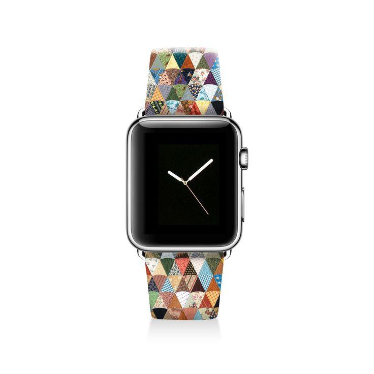 Quilt Apple watch band, Decouart Apple watch strap S018