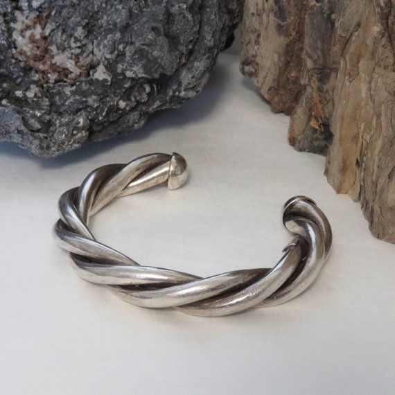 Heavy Sterling Silver Twisted Cuff