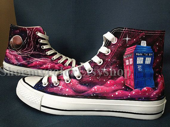 Doctor Who Converse 50th anniversary Doctor by ShoemycolorEtsyshop