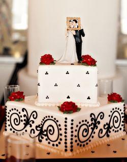 WeddingChannel Galleries: White & Black Square Wedding Cake