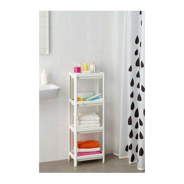 IKEA VESKEN shelf unit Perfect in a small bathroom.