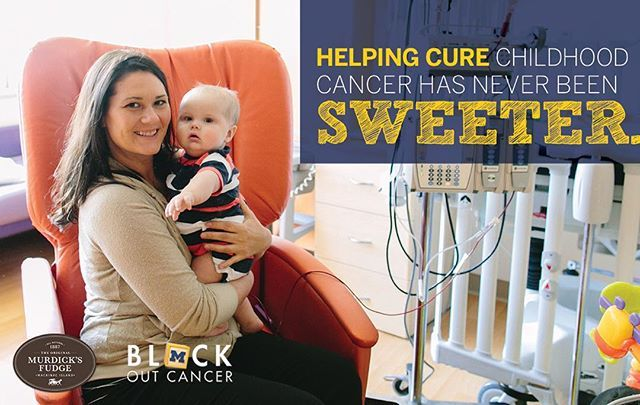 If you haven't had a chance, NOW is the time to make a gift to support #childhoodcancer research. This week, Original Murdick's Fudge is matching every dollar donated, up to $1000!! Donate online or set up a page to enlist your friends and family in this important work. All it takes is a few clicks on BlockOutCancer.org Thank you for helping #BlockOutCancer!