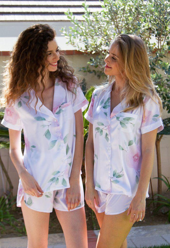 358f4a8209 Sofia Pajamas Shortie Set - White – Sincerely Sofi Designs