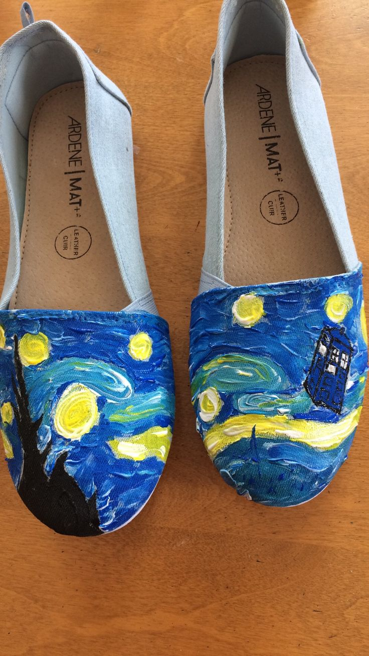 Dr Who painted shoes