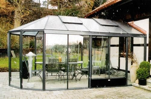 Glaspavillons der Breiten 250 bis 850 cm, oval