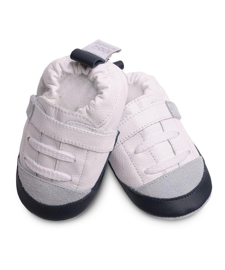Look at this #zulilyfind! Shooshoos White & Blue Sneaker by Shooshoos #zulilyfinds