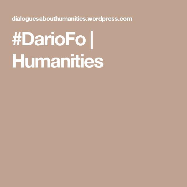 #DarioFo | Humanities