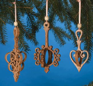 3d scroll saw christmas ornaments. slide-through ornaments scroll saw pattern 3d christmas e