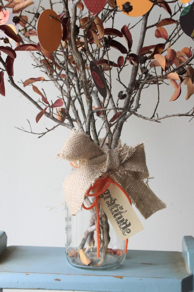 Twigs In A Vase For Gratitude Tree Holidays Pinterest