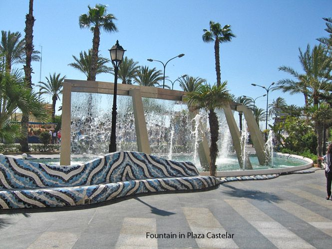 Fountain in Plaza Castelar - Torrevieja
