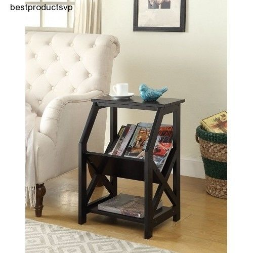 #Ebay #End #Table #With #Storage #Accent #Side #Wood #Chairside #Couch #Snack #Magazine #Lamp #New #Unbranded #Transitional