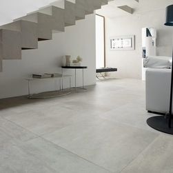 Concrete Look Tiles - Rodano Acero - industrial - Living Room - Perth - Ceramo Tiles