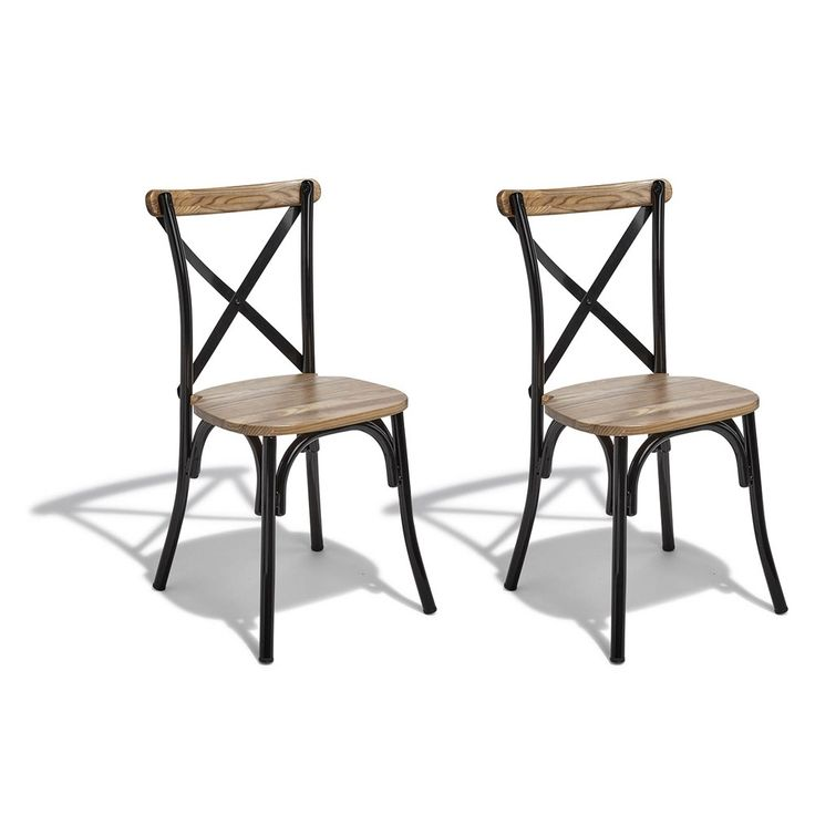 Table Bistrot Gifi Chaise Juliette Noir Et Bois Naturel X 2 In 2019 | Style