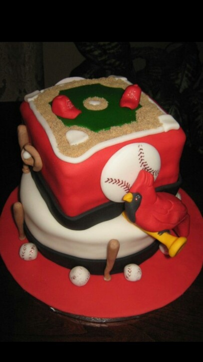 Cardinal Cake Images : 106 best images about Cakes - Sports St Louis Cardinals on ...