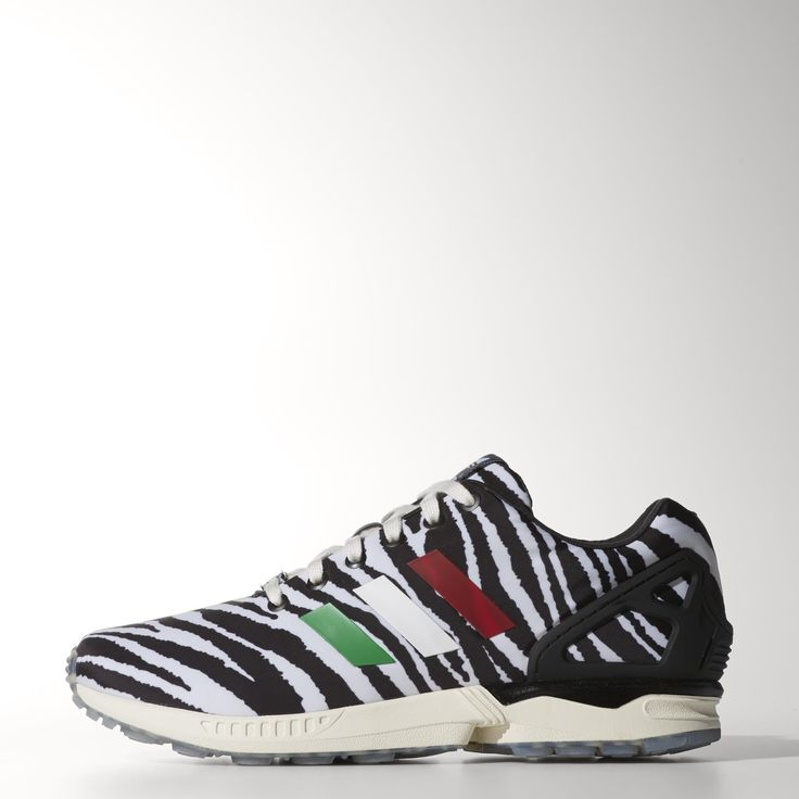 adidas Originals teams up with Italian style maestro Lapo Elkann for a  high-fashion take on the ZX Flux. These men's shoes feature a satin upper  with an ...