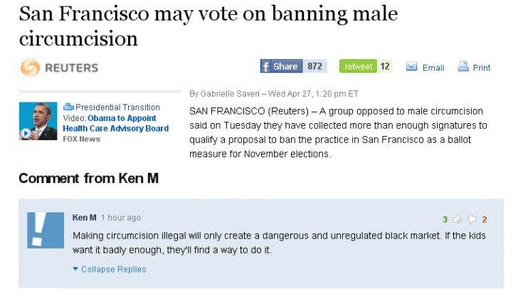 Ken M on circumcision