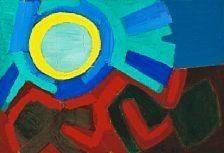 "Artwork by Frede Christoffersen, ""Efterår"" (Autumn), Made of Oil on canvas"