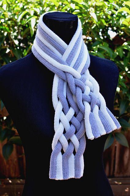 Ravelry: Braided String Scarf pattern by Christy Hills