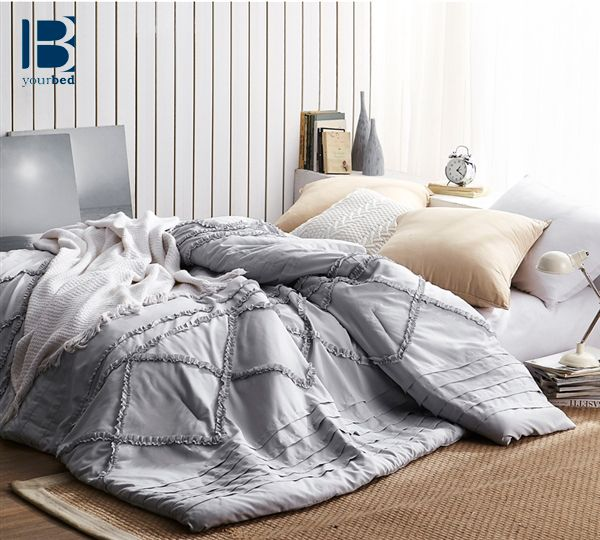 The Centric Ruffles Textured Comforter Is A New Byb Comforter That Features Unique Handcrafted Ruffle Pa Dorm Bedding Twin Xl Bedding Dorm Bedding Twin Xl