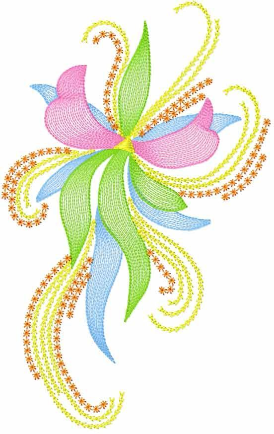Modern Flower Free Embroidery Design 45 Flowers Free Machine
