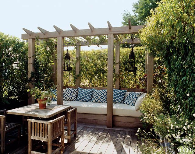 roof gardenGardens Seats, Roof Decks, Outdoor Seats, Seats Area,  Terraces, Tabitha Simmons, Patios, Outdoor Spaces, Backyards