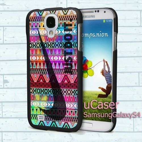 """Colorful Aztec Nike for Samsung Galaxy S4 5.0"""" screen Black Case"""
