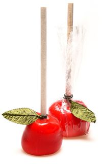 RED CANDY APPLE LOLLIPOPS