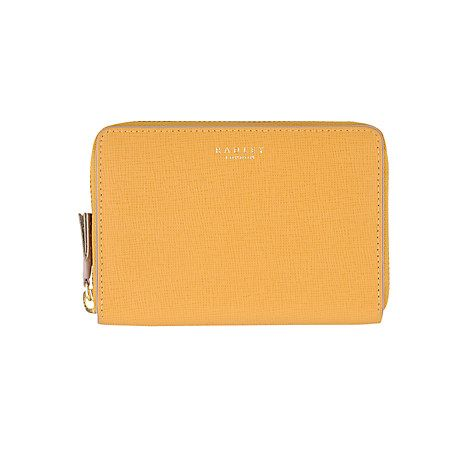Buy Radley Whitfield Zip Leather Purse, Yellow Online at johnlewis.com