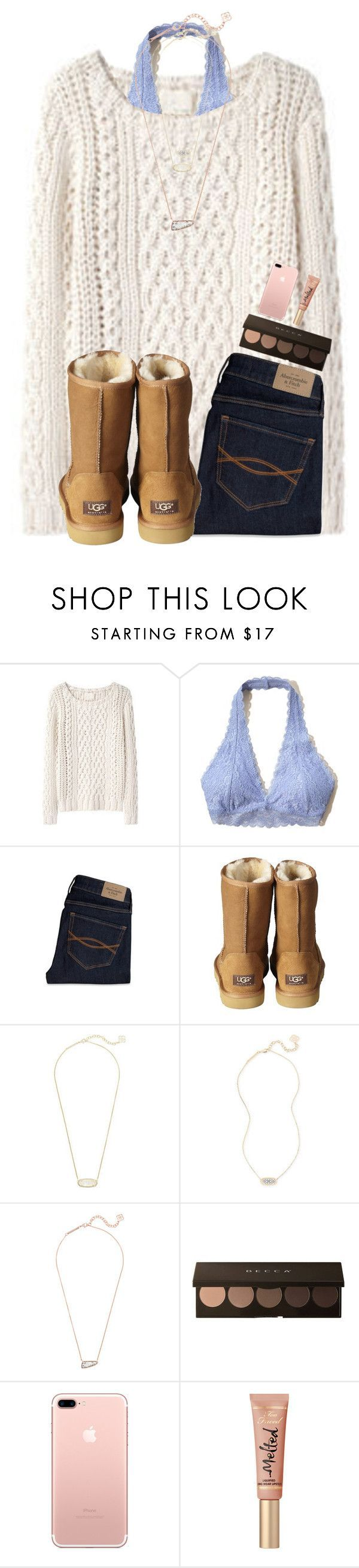 """Comfy and warm:)"" by emmagracejoness ❤ liked on Polyvore featuring Hollister Co., Abercrombie & Fitch, UGG Australia and Kendra Scott"