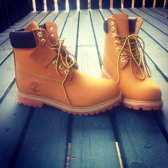 Fresh timbs. #timberland #yellowboots