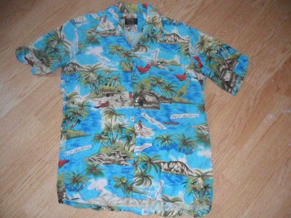 1960's Hawaiian Style Jamaica Beach Vintage by RetroFreshTees, $25.00