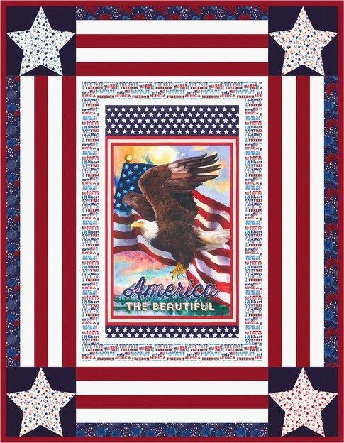 Star Spangled designed by Robert Kaufman Fabrics. Features Patriots, shipping to stores January 2017. FREE pattern available in January 2017 (robertkaufman.com) #FREEatrobertkaufmandotcom