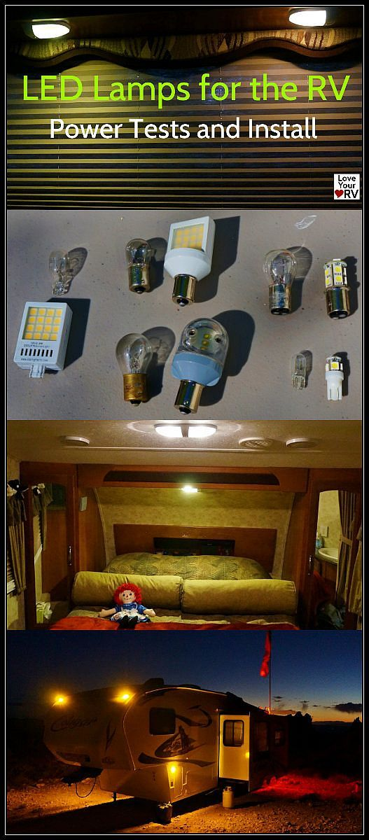 http://www.loveyourrv.com/install-review-starlights-led-lamps-rv/  We are currently out boondocking in the Nevada Desert and I really love these new LED bulbs. It's amazing how much longer the battery bank is lasting between charges. I also got a chance to check out the new LED marker lamps in the dark and man do they look great. Nice and bright, while drawing 1/5 the DC amperage versus the old type bulb. #LED #RV #Lamps #Lights