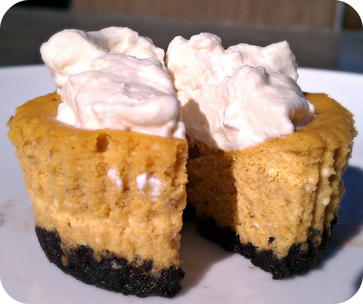 Mini Pumpkin Cheesecake Tarts | Mini Desserts | Pinterest