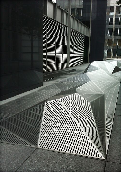 A considerably more attractive solution to grates you have to put outside your building.